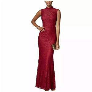 NWT Maroon lace formal gown